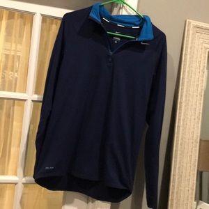 Nike dry fit running shirt zip up